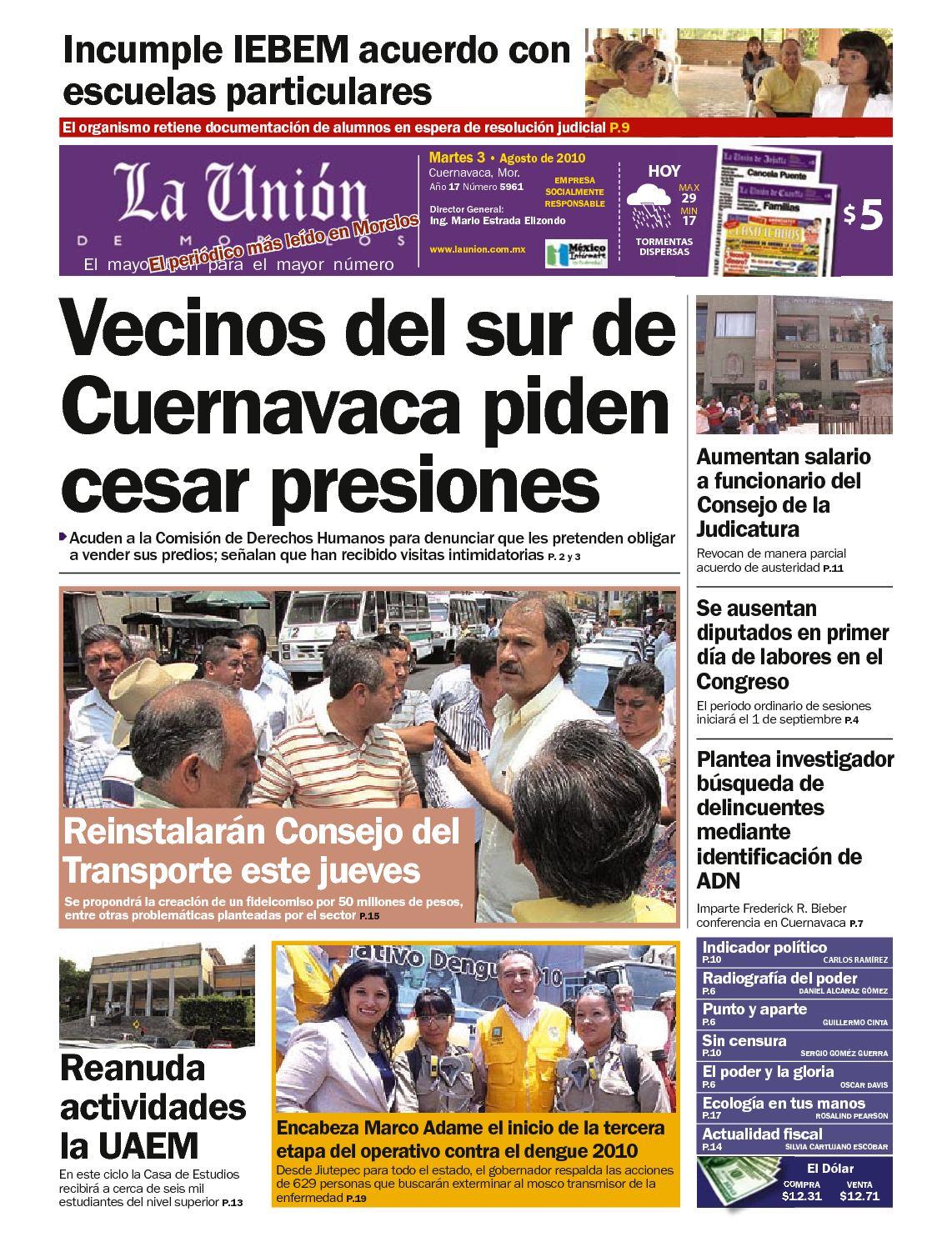 Calaméo - La Unión de Morelos 03 Agosto 2010