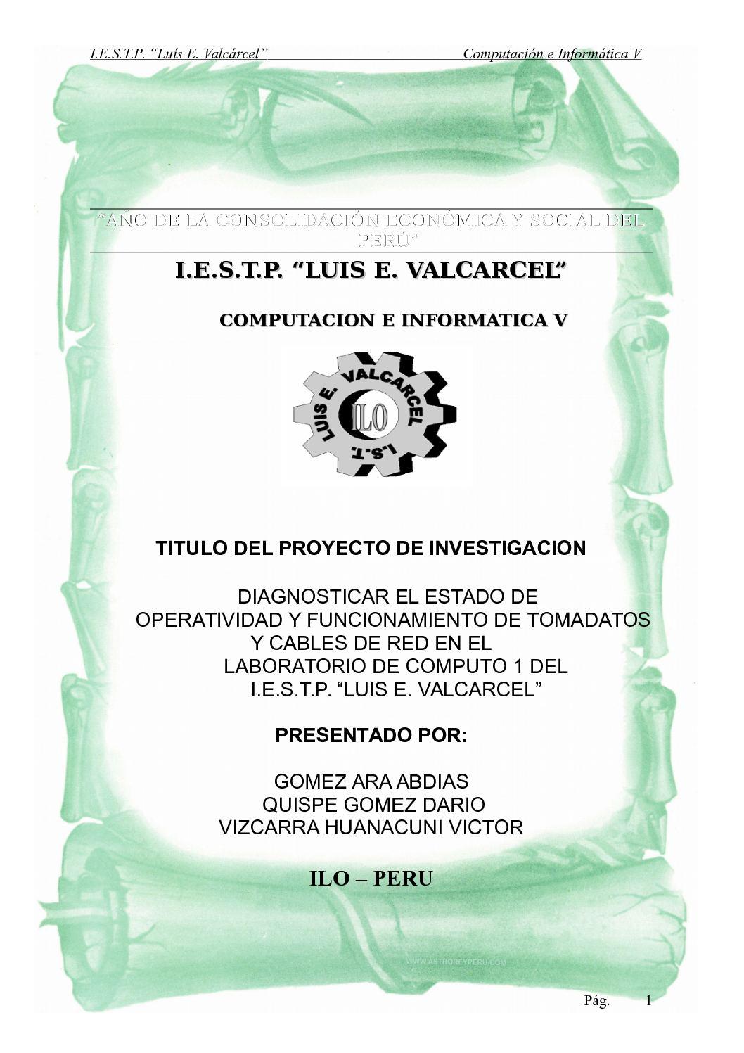 Calaméo - PROYECTO DE INVESTIGACION TECNOLOGICA