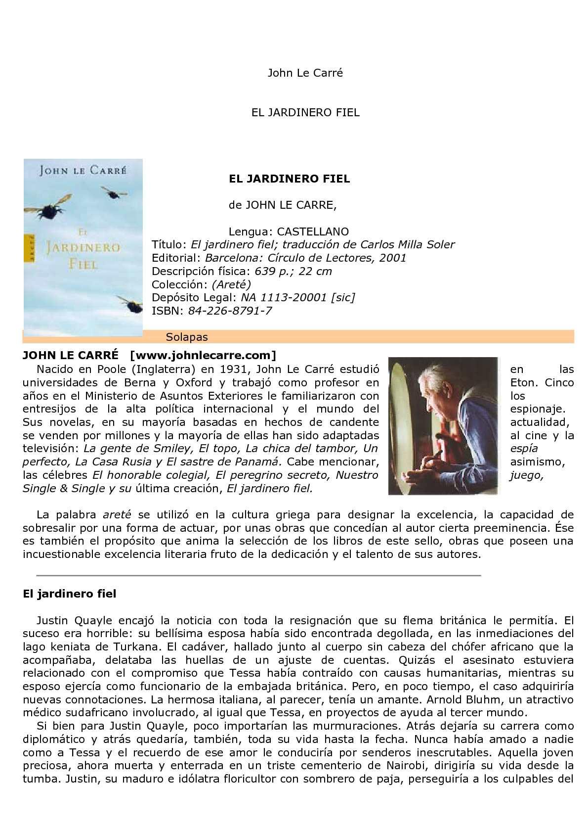 Calaméo - 4997773-Le-Carre-Joh-El-jardinero-fiel