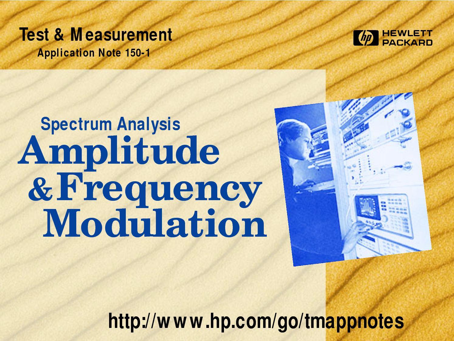 Calamo Hp Am Fm Sidebandsuppressed Carrier Rf Modulator Modulation Block Diagram