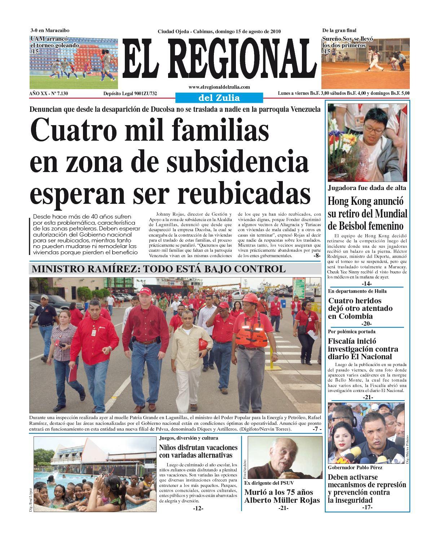 Calaméo - El Regional del Zulia | 15-08-2010