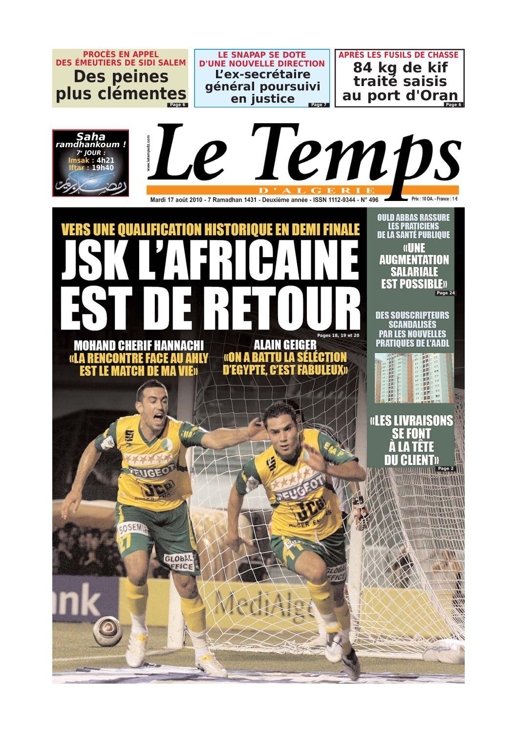 Calaméo - Le Temps d Algerie Edition du 17 aôut 2010 e1a1eca9f8f