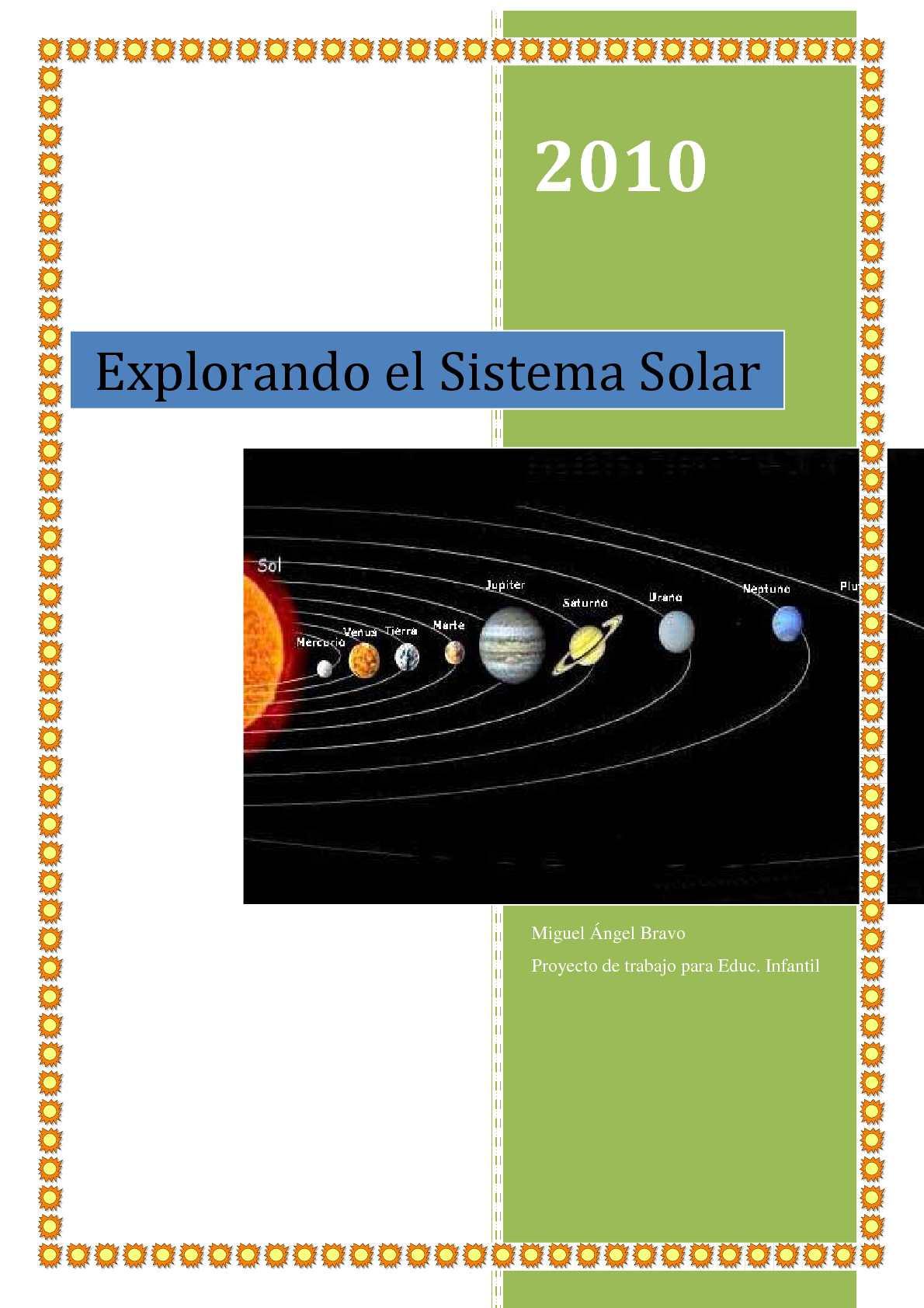 Calaméo - Sistema Solar y sus planetas. Proyecto para Educación Infantil