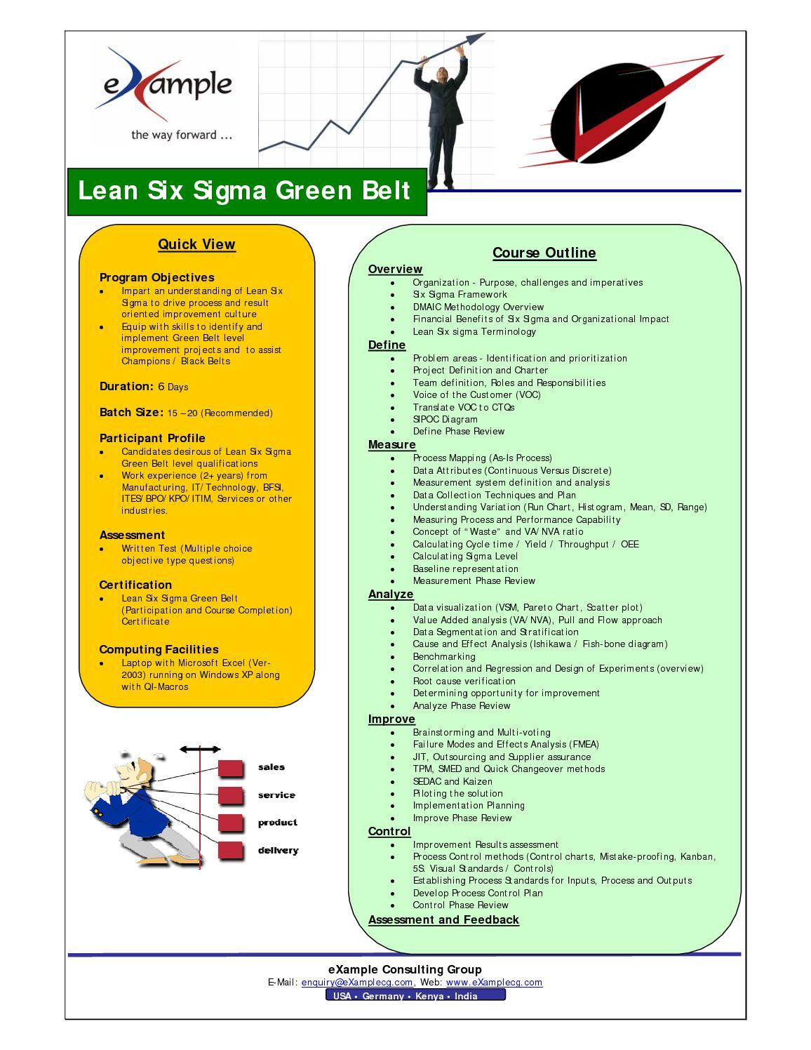 Calamo Examplecg Lean Six Sigma Green Belt Certification Course