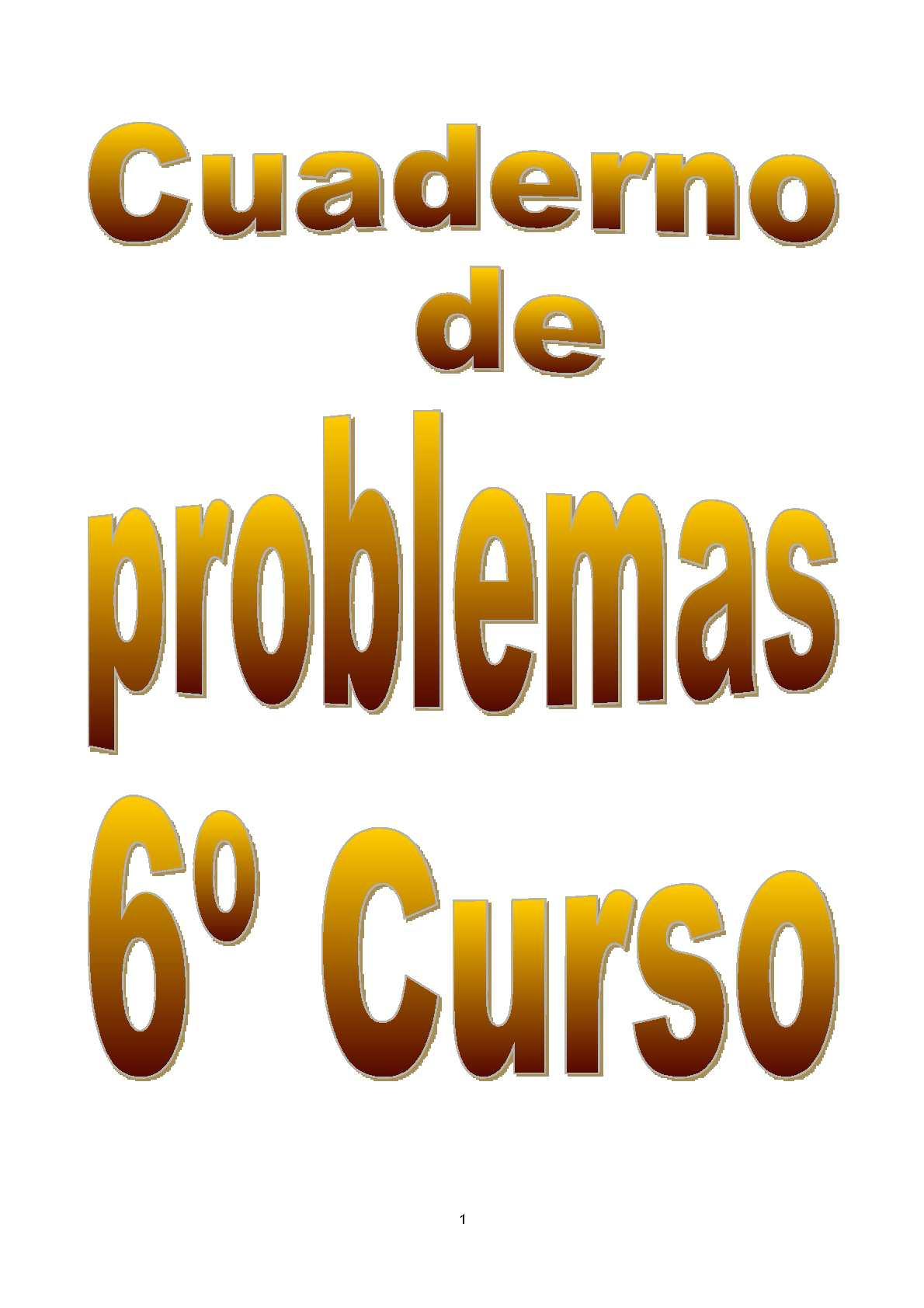 Calaméo - Cuaderno de problema 6º Primaria