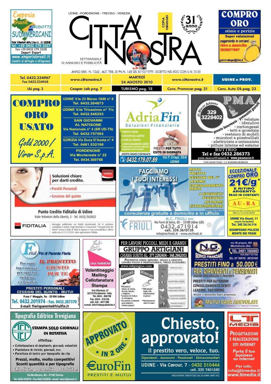 Calaméo Citt Nostra Udine Del 24 08 2010 N 1242