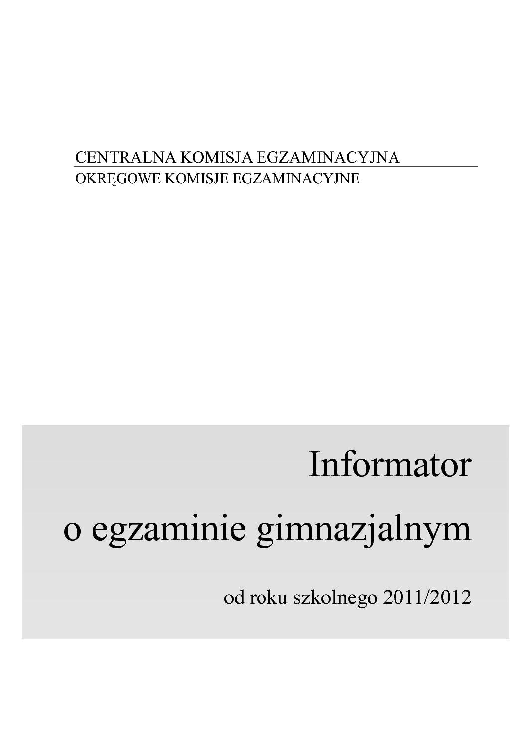 Calaméo 100826informator Gimnazjalny