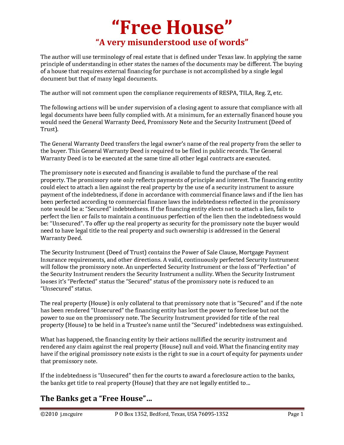 Calaméo Free House - Texas legal documents