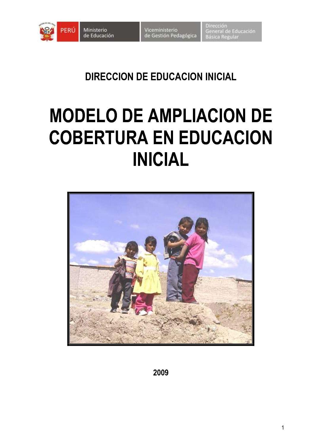 Calaméo - Modelo de Ampliacion de Cobertura en Educacion Inicial ...