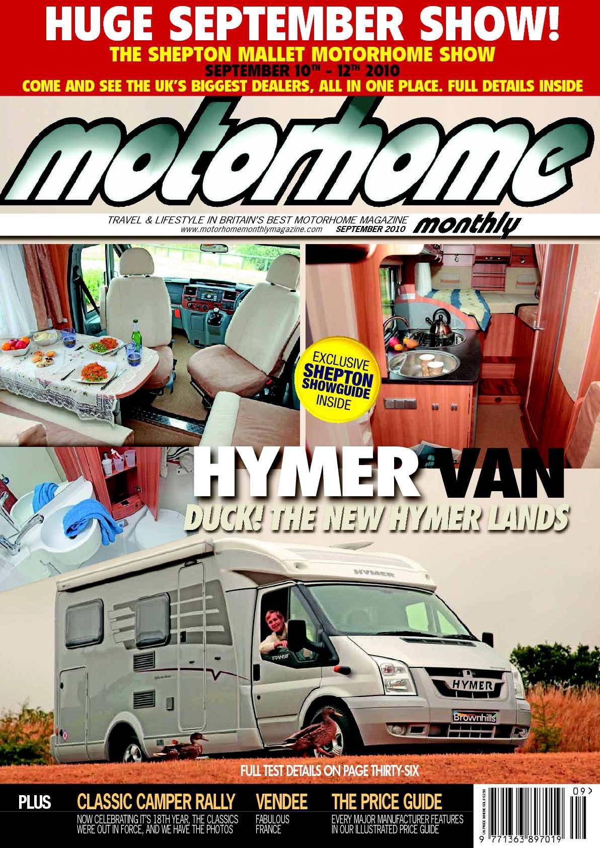 Calaméo September 2010 Motorhome Monthly Magazine