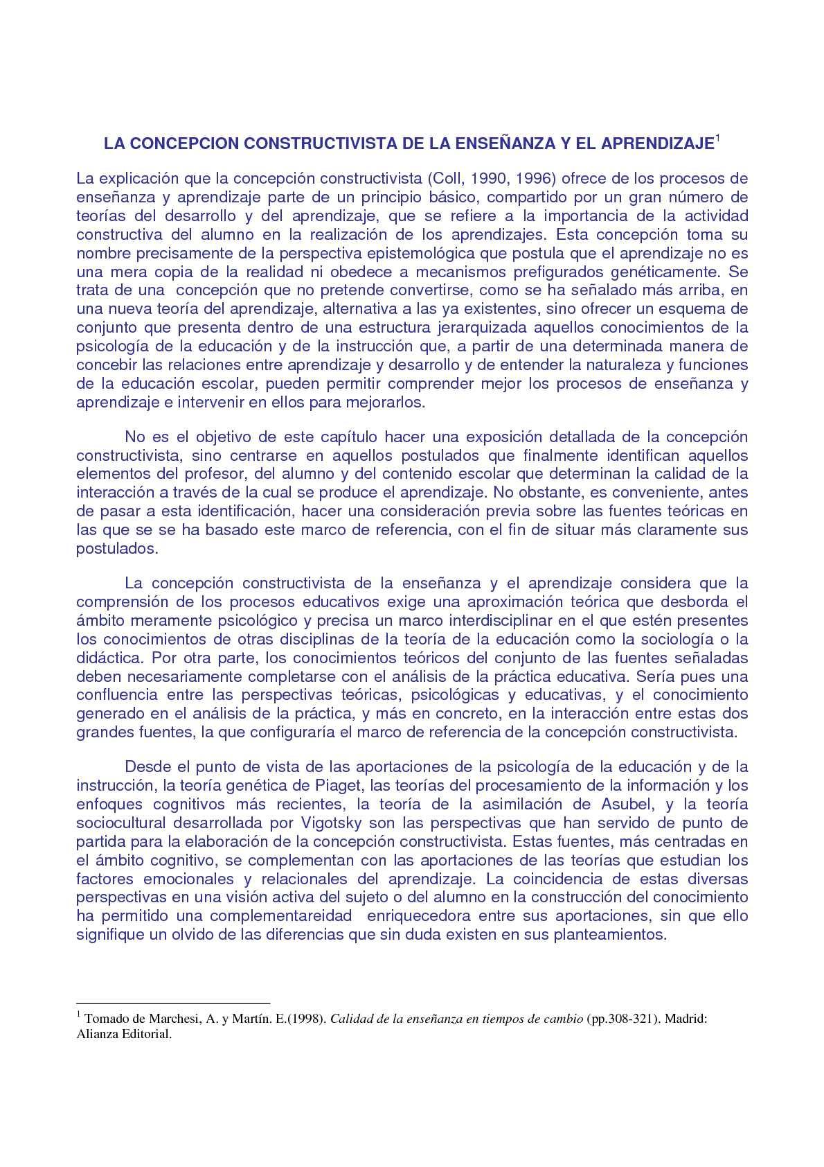 CONSTRUCTIVISMO ENSEÑANZA-APRENDIZAJE