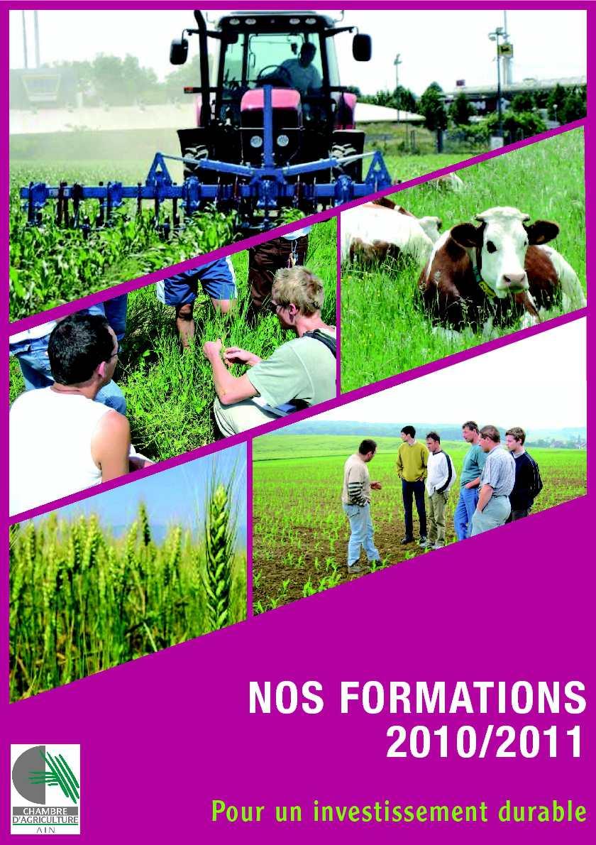 Calam o catalogue des formations 2010 2011 chambre d 39 agriculture de l 39 ain - Chambre agriculture de l ain ...