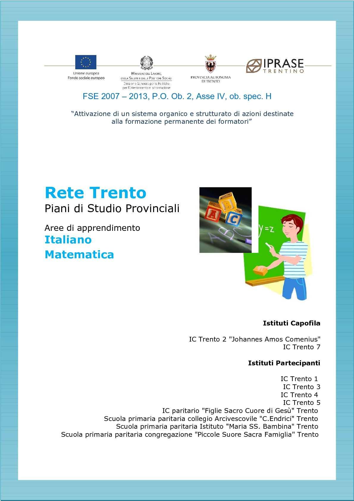 rete trento - italiano e matematica