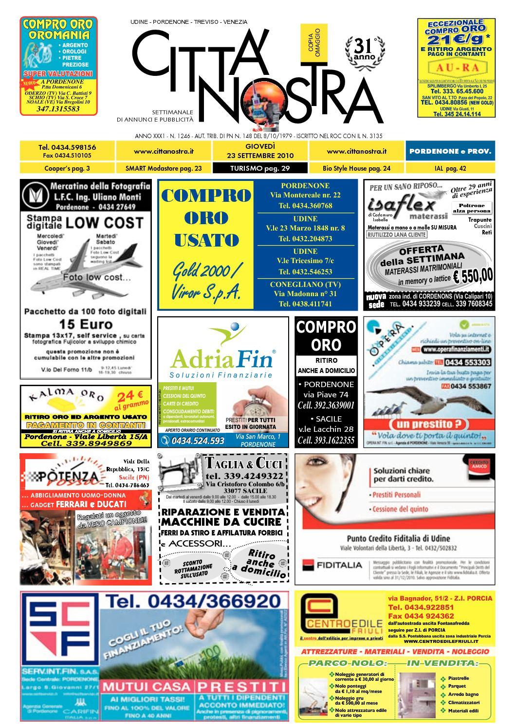 Calaméo Citt Nostra Pordenone Del 23 09 2010 N 1246