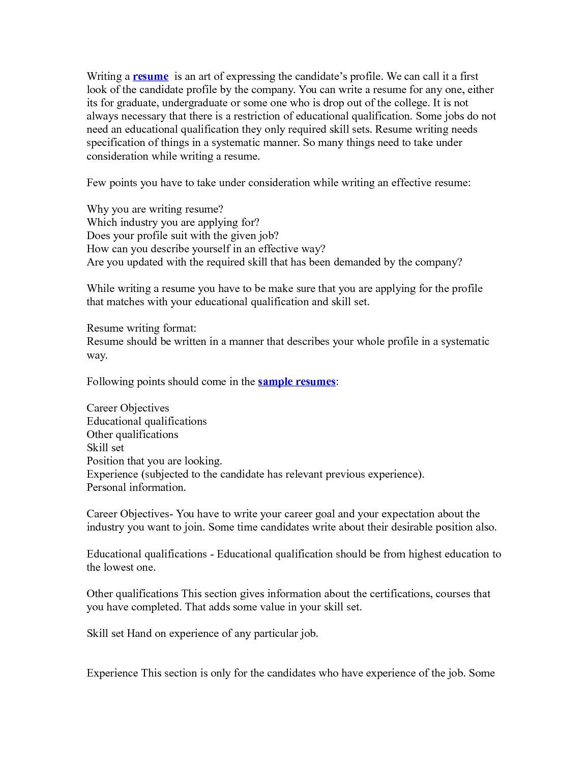 Calaméo - Resume writing tips