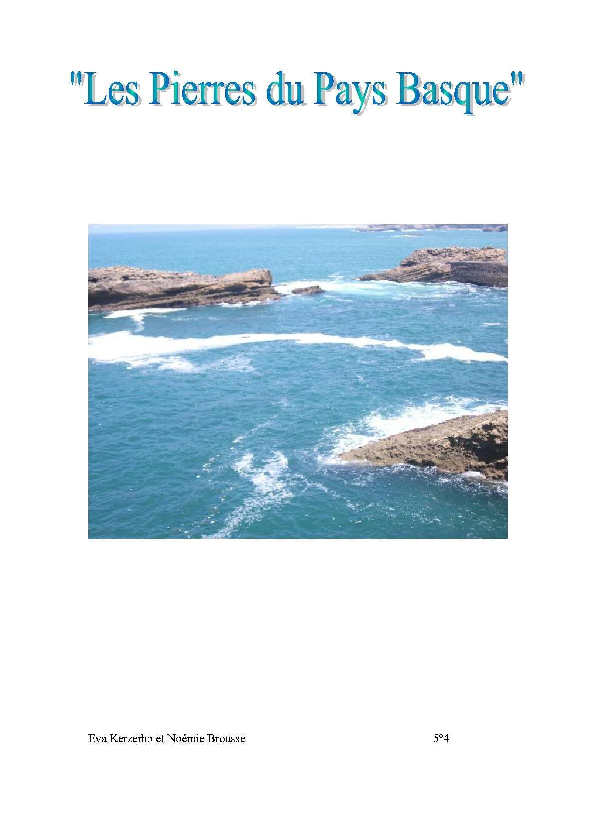 Les pierres du pays basque