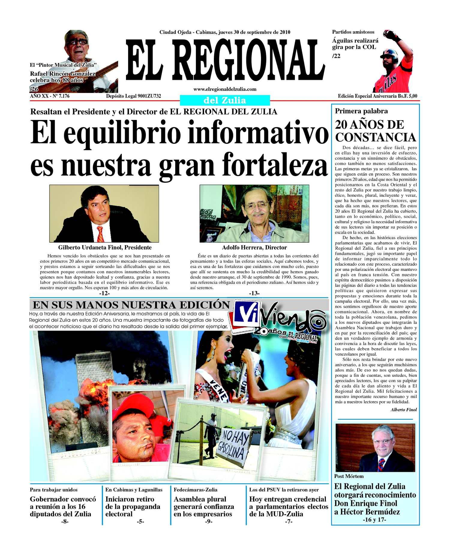 Calaméo - El Regional del Zulia 30-09-2010