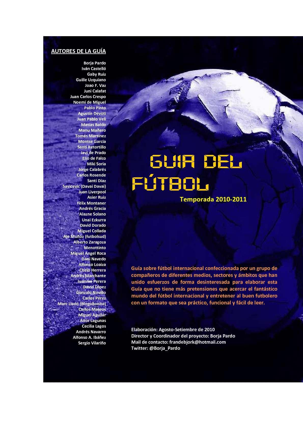 Calaméo - LA GUÍA DEL FÚTBOL Temporada 2010-2011 (Parte I) 2457523da16f0