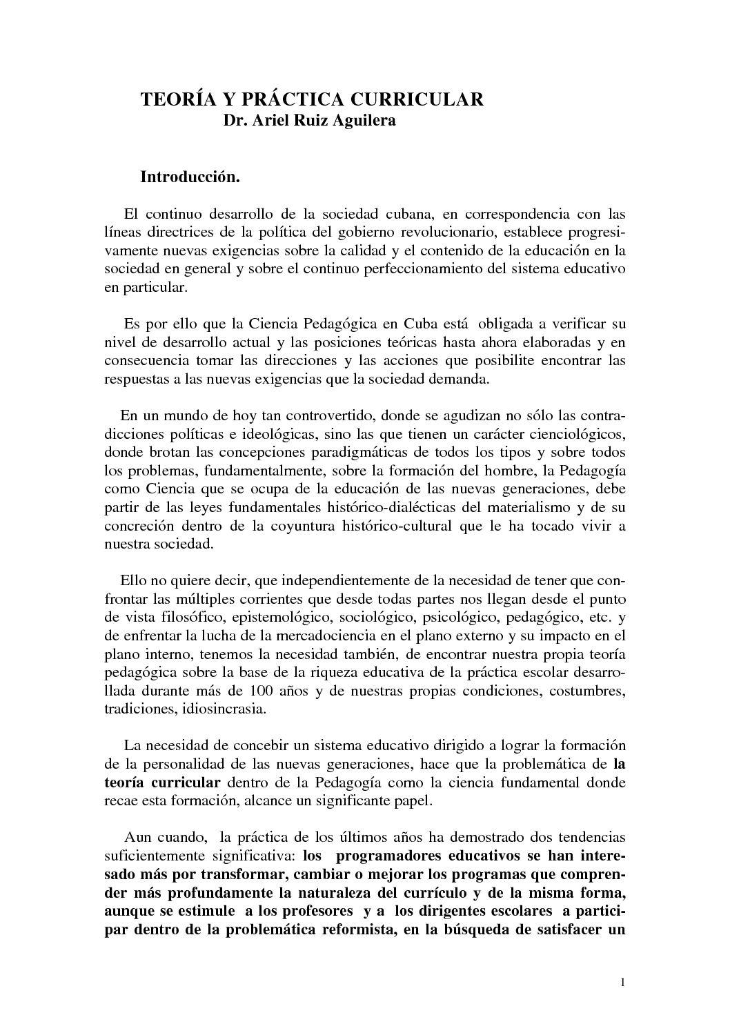 Calaméo - TEORÍA Y PRÁCTICA CURRICULAR