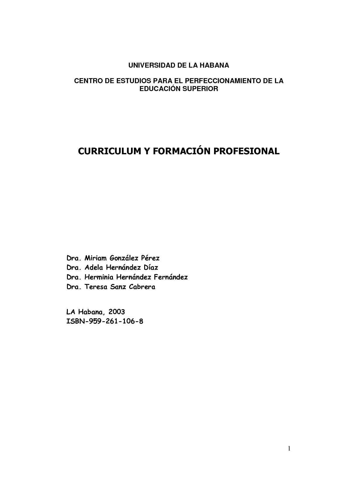 Calaméo - CURRICULUM Y FORMACIÓN PROFESIONAL