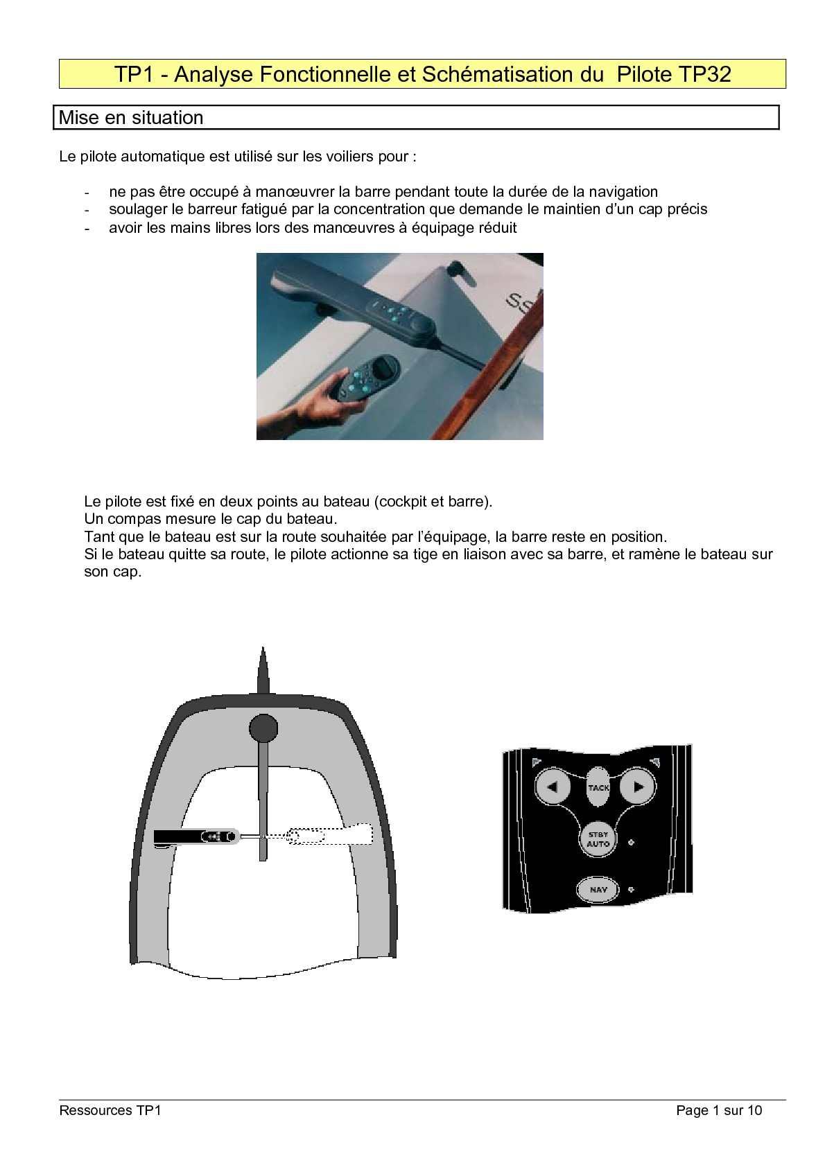 calam o ressource tp1 pilote automatique tp32. Black Bedroom Furniture Sets. Home Design Ideas