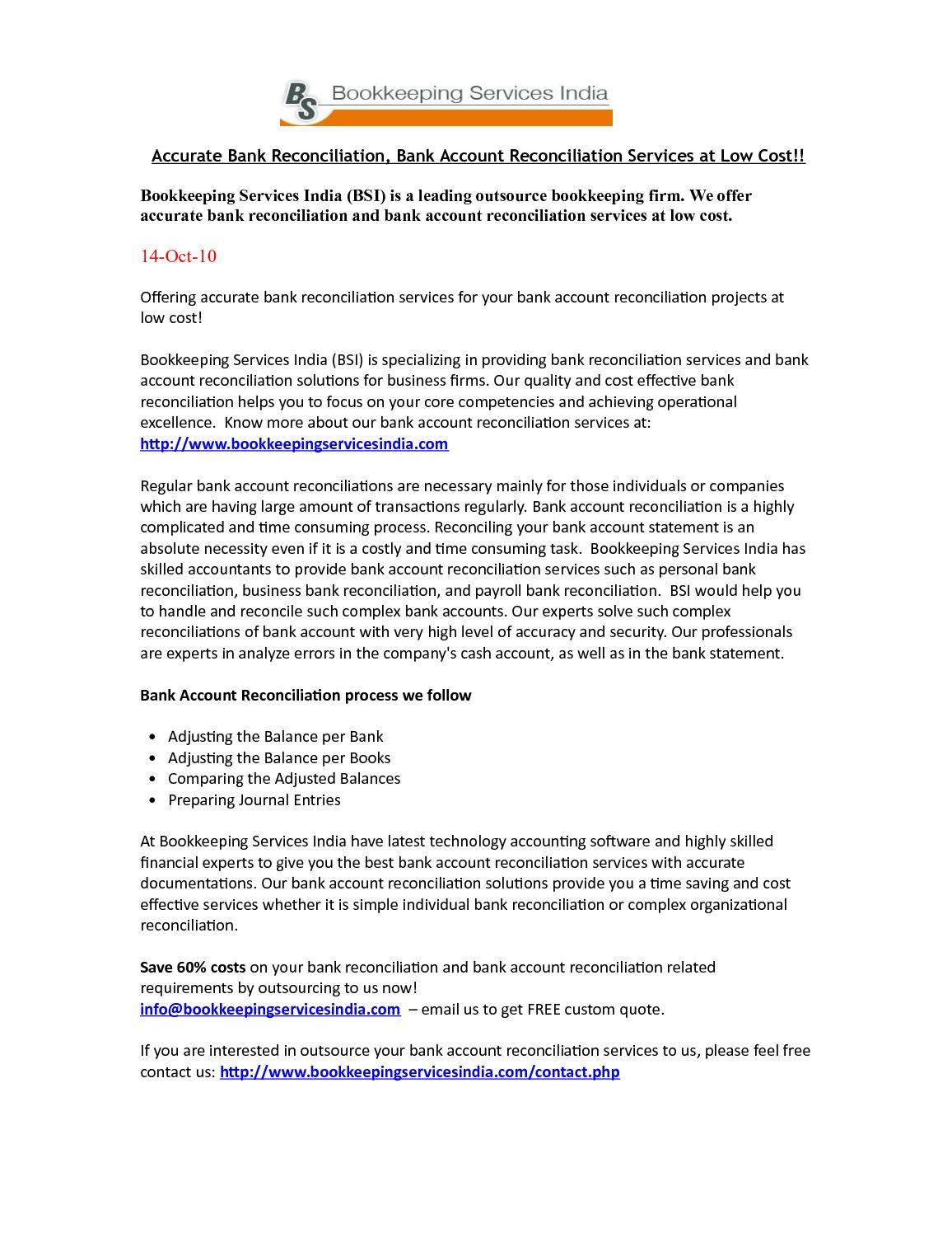 calaméo accurate bank reconciliation bank account reconciliation