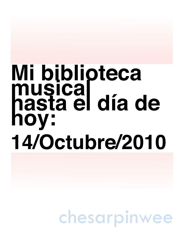 Calamo Chesarpinwees Music 14octubre2010