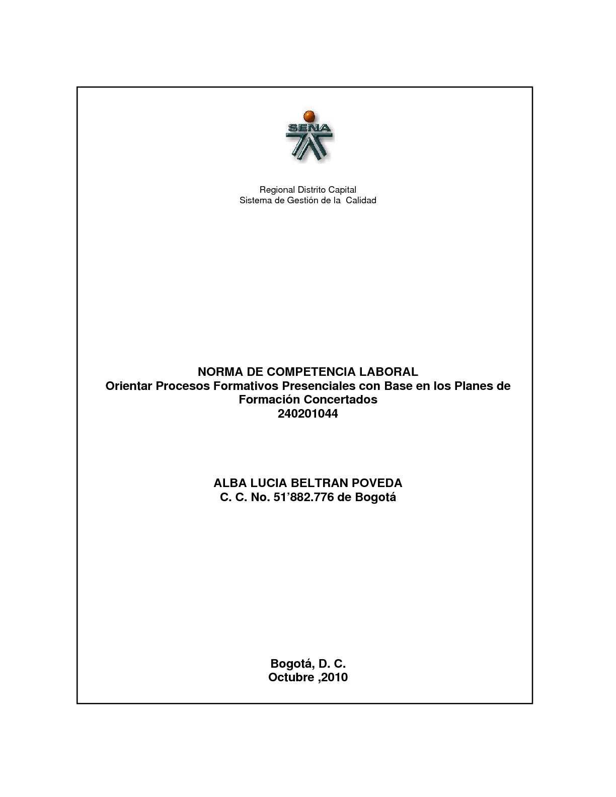 NORMA DE COMPETENCIA PEDAGOGICA