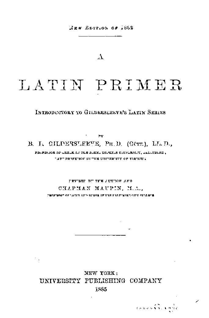 Latin primer book 1