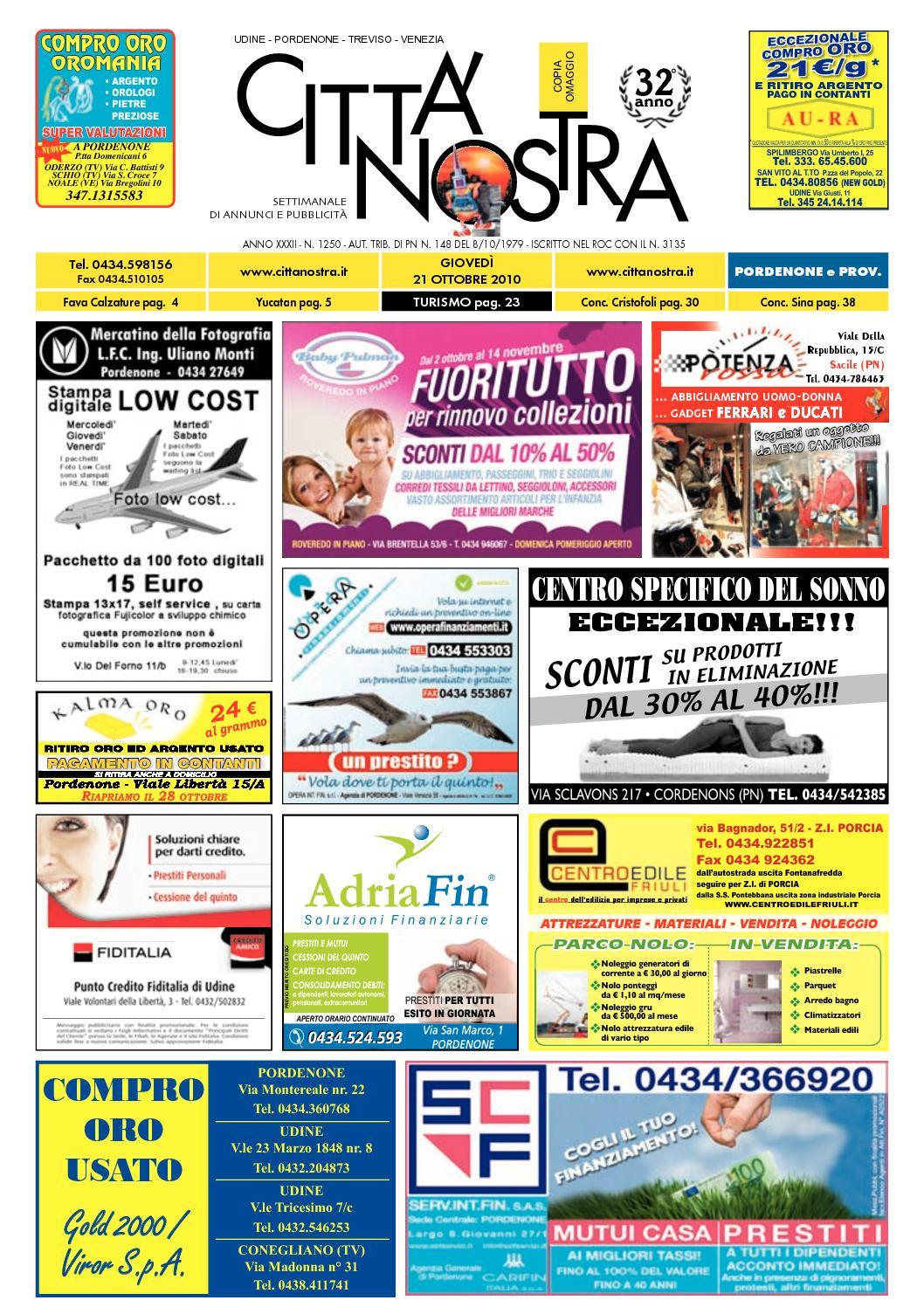 Calaméo Citt Nostra Pordenone Del 21 10 2010 N 1250