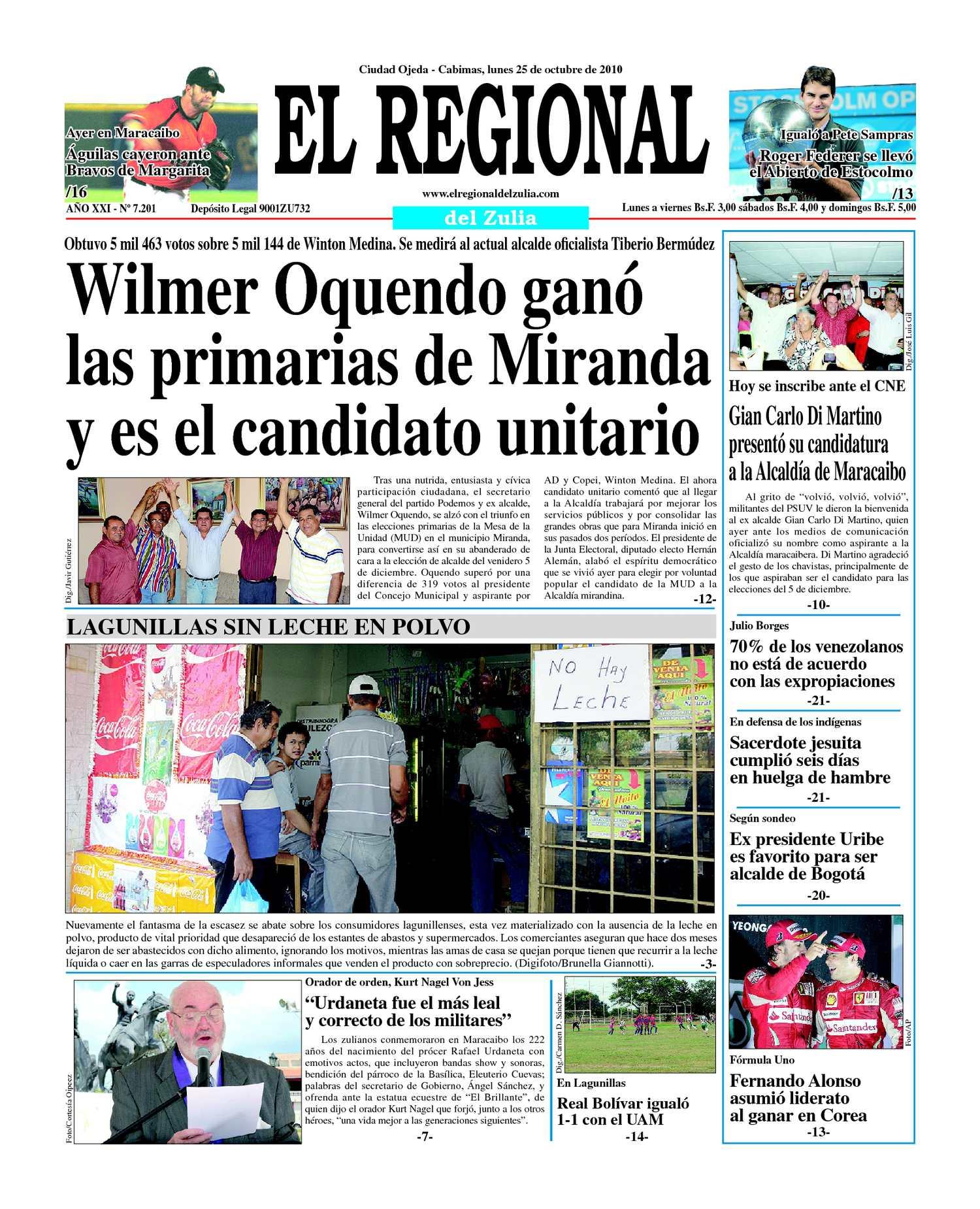 Calaméo - El Regional del Zulia 25-10-2010