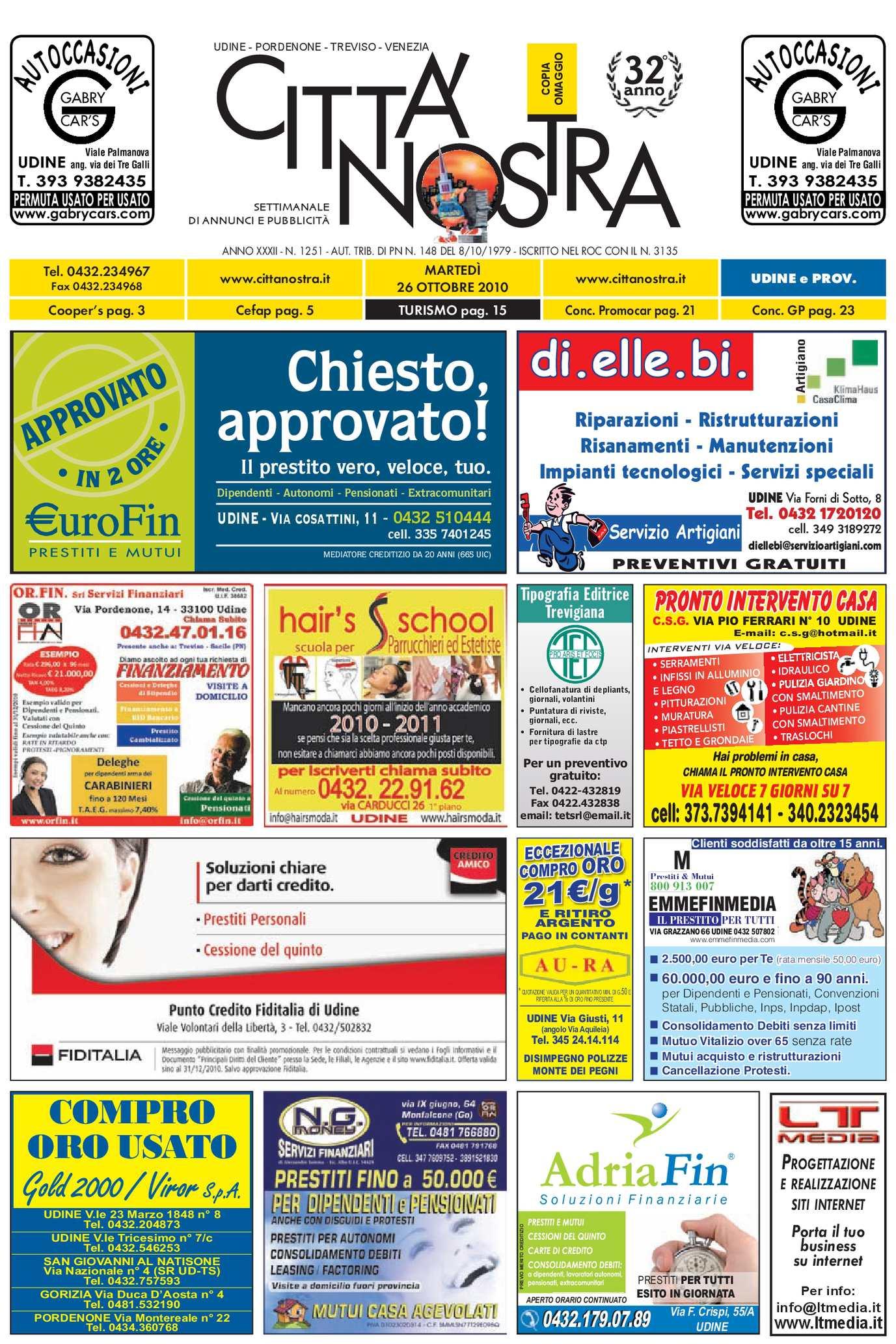 Calaméo Citt Nostra Udine Del 26 10 2010 N 1251