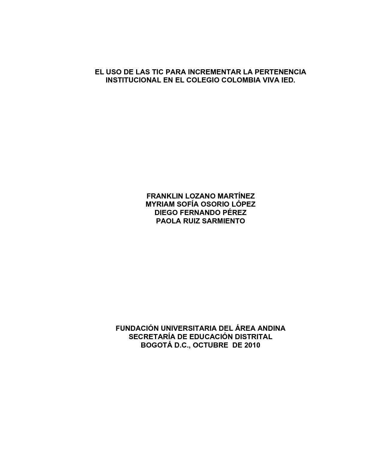 Calaméo - EL USO DE LAS TIC PARA INCREMENTAR LA PERTENENCIA ...