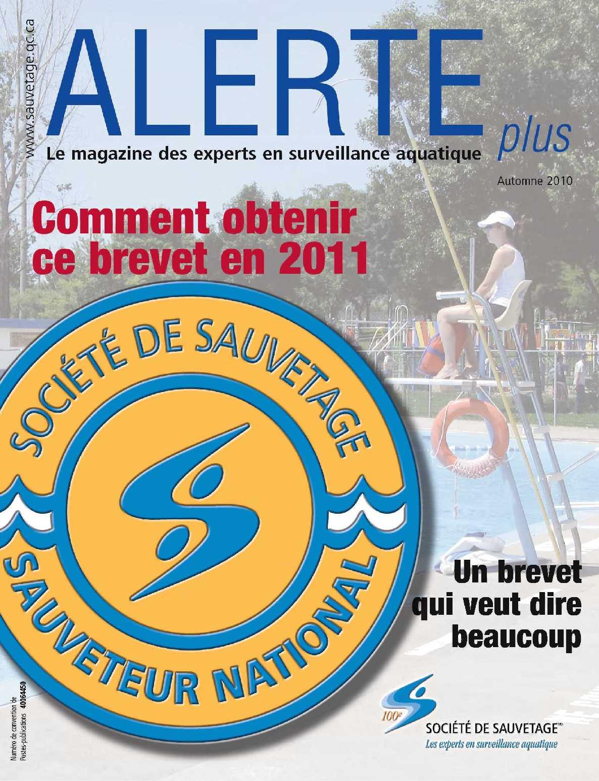 Magazine Alerte plus - Automne 2010
