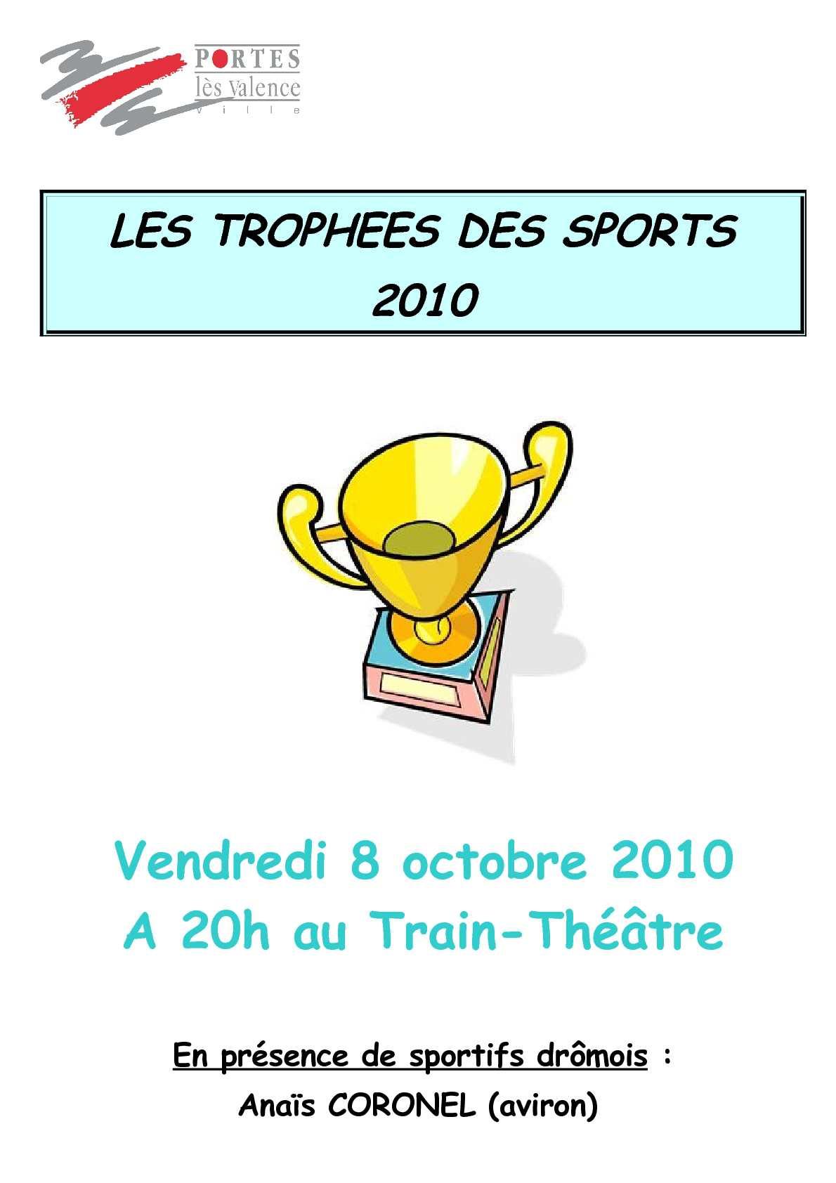 Calam o les trophees des sports 2010 - Programme train theatre portes les valence ...
