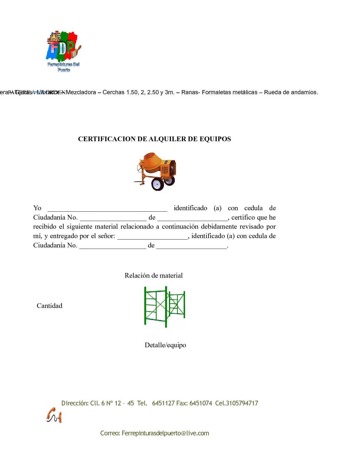 Calaméo - Formato de contratcion de alquiler de equipos