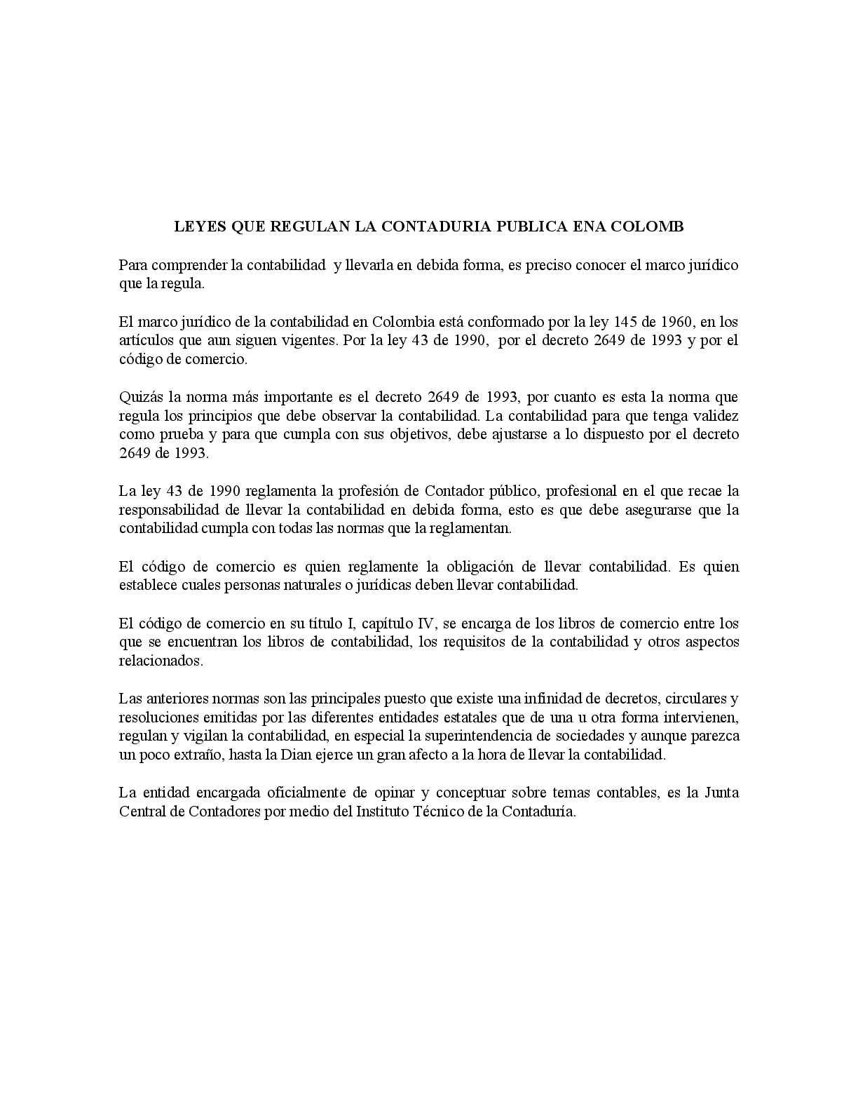 Calaméo - LEYES QUE REGULAN LA CONTADURIA PUBLICA EN COLOMBIA