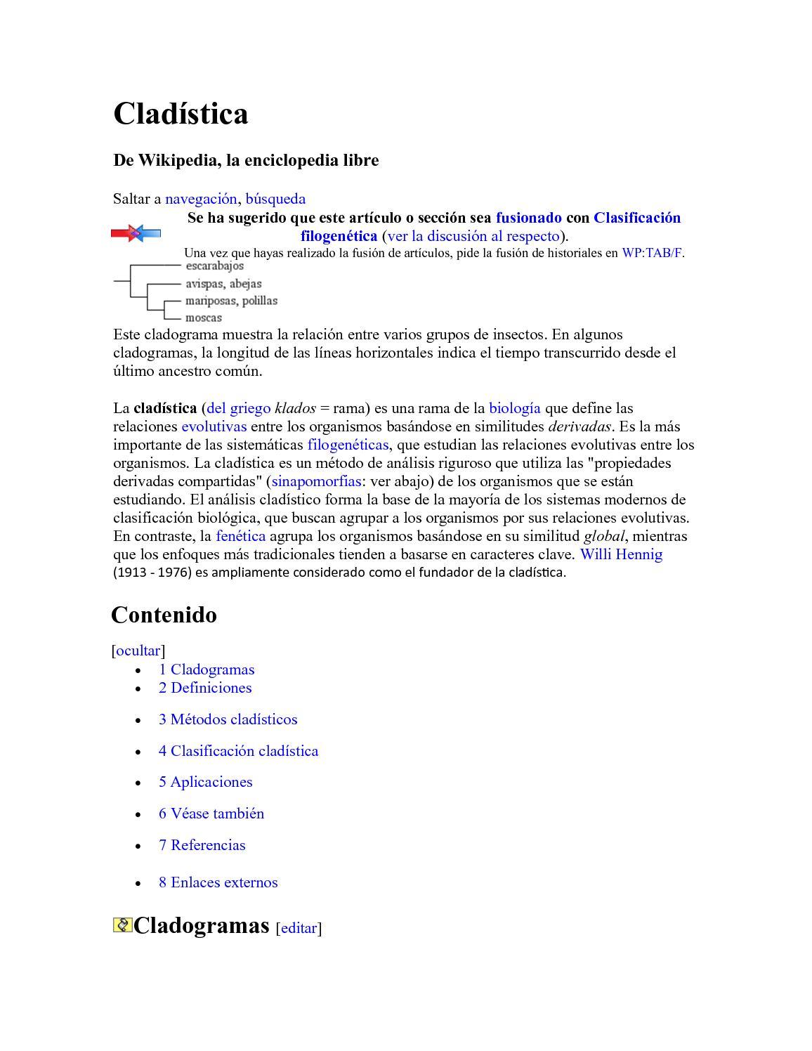 Calaméo - Cladística 2