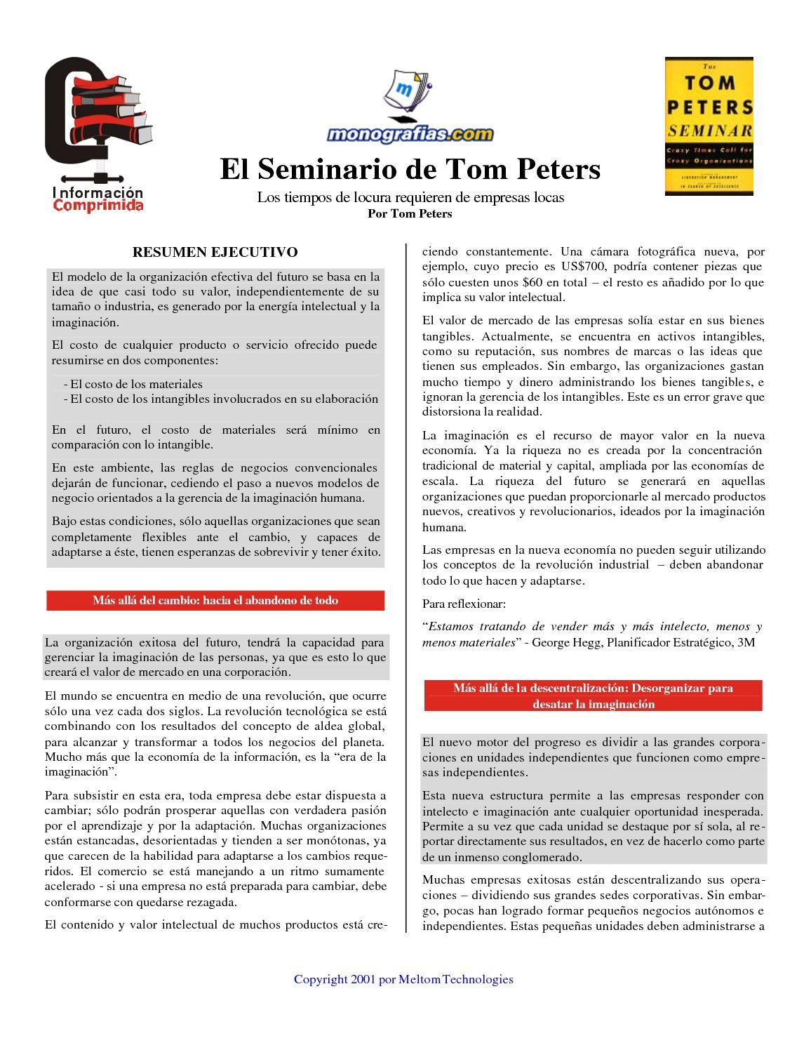Calaméo - El seminario de Tom Peters