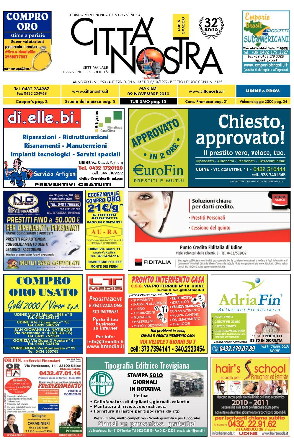 Calaméo Citt Nostra Udine Del 09 11 2010 N 1253