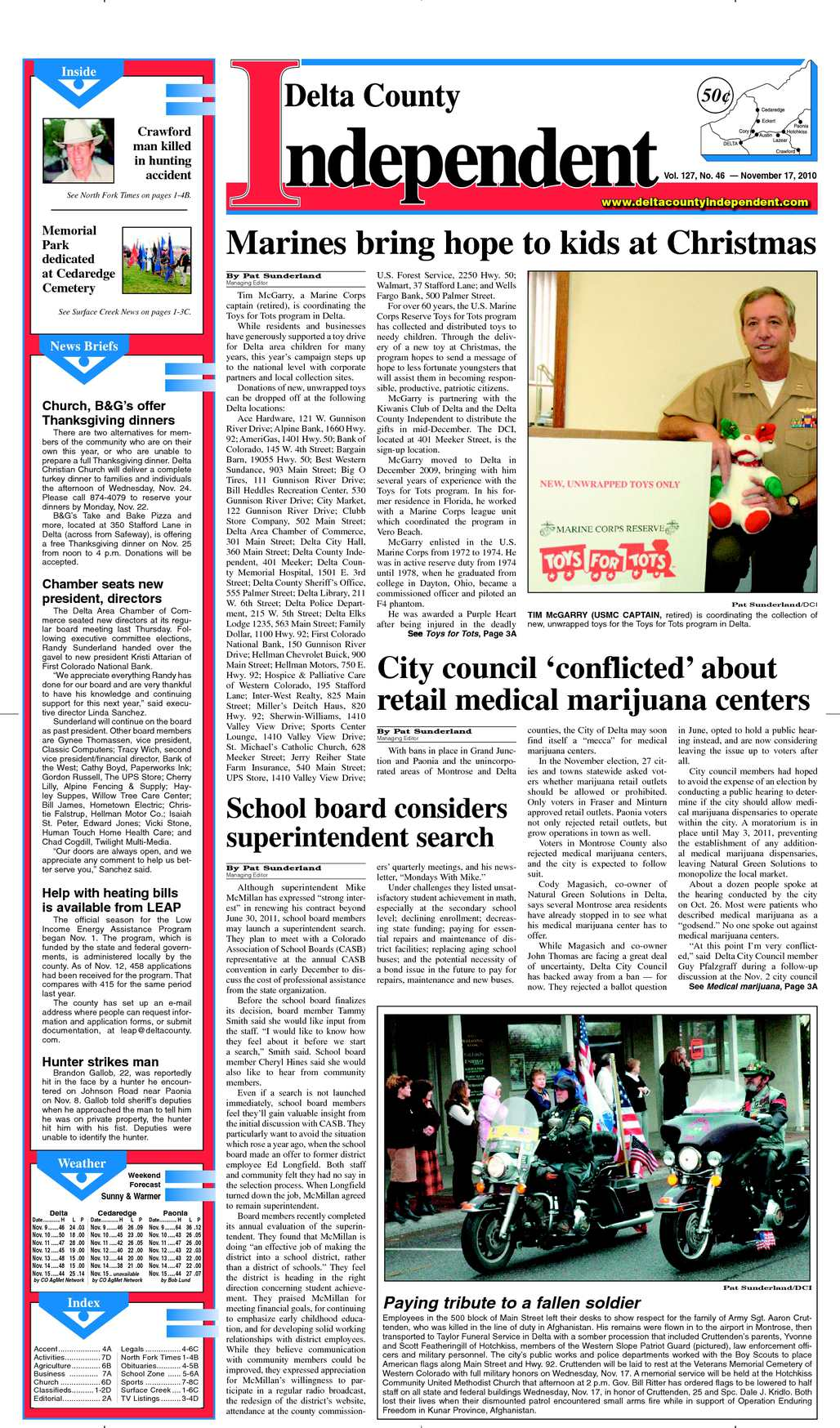 Calaméo - Delta County Independent, Issue 46, Nov. 17, 2010