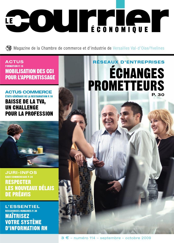 Calam o le courrier cononomique magazine de la cci val d 39 oise yvelines n 114 septembre 2009 - Chambre de commerce yvelines ...