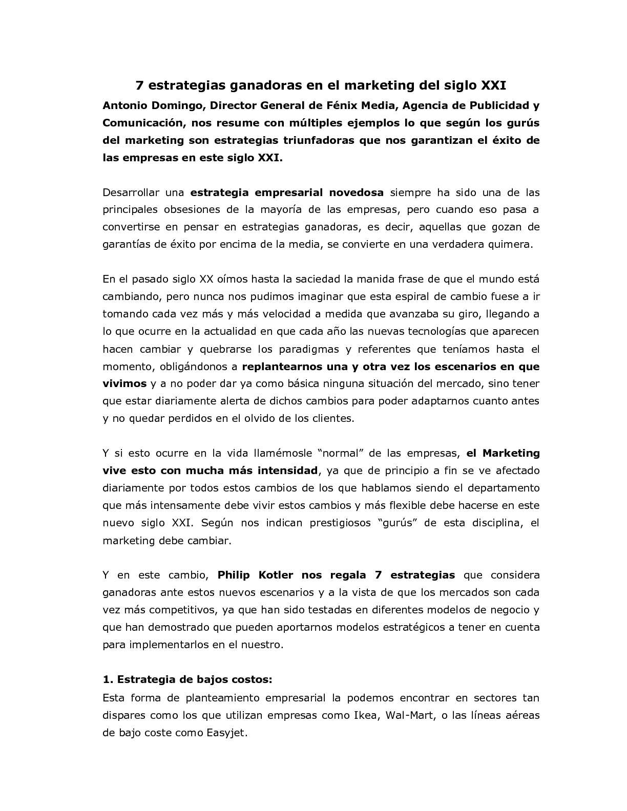 Calaméo - Estrategias marketing siglo XXI