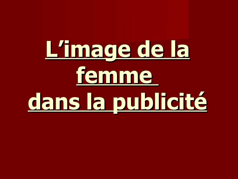 L'image de la femme dans la publicité