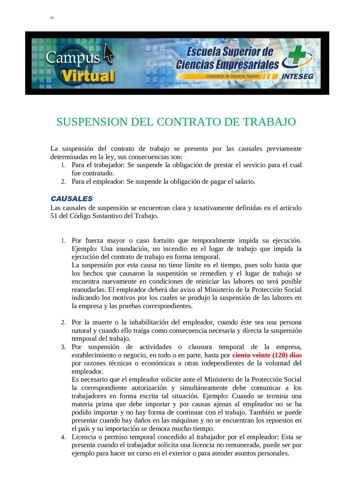Calaméo - SUSPENSION DEL CONTRATO DE TRABAJO