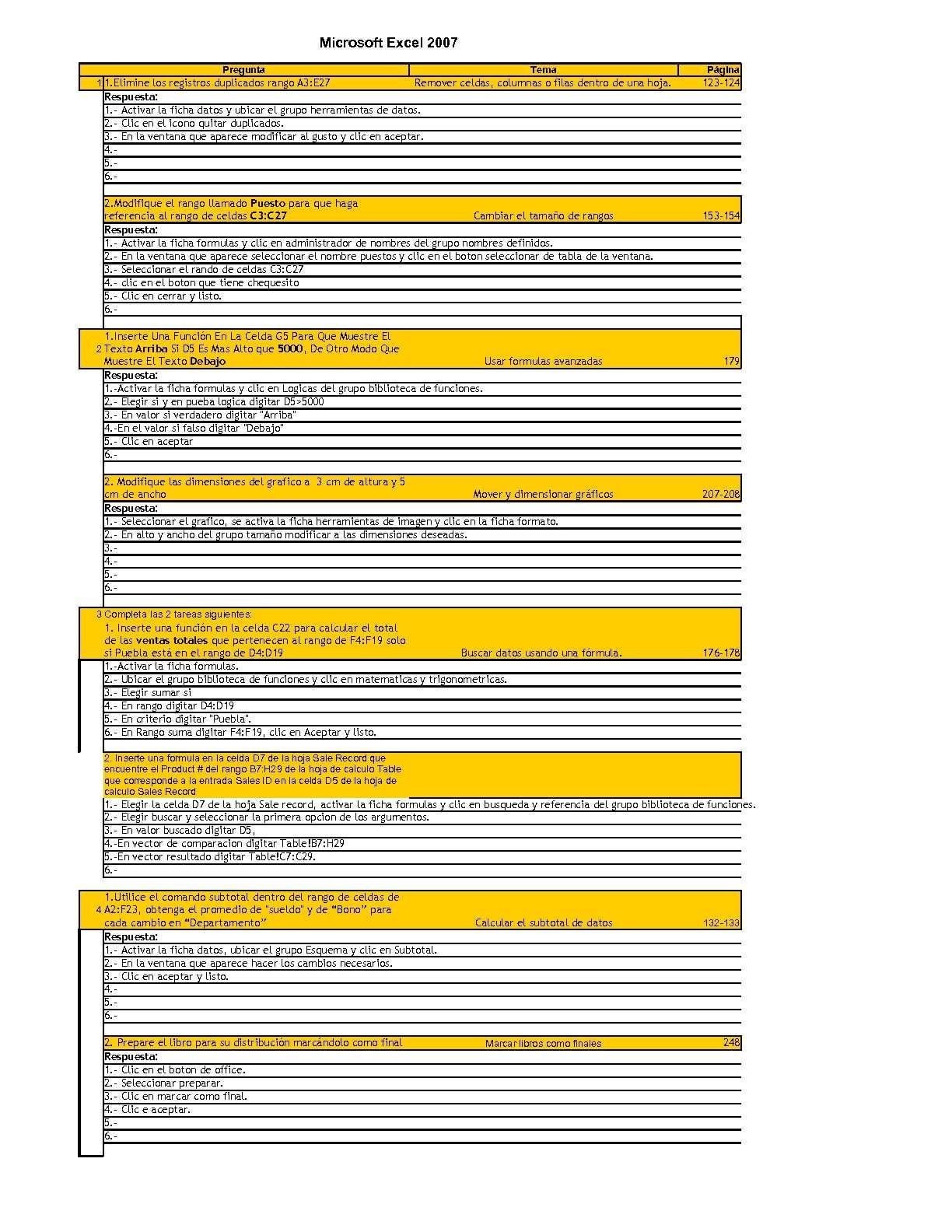 Calaméo - Preguntas Excel 2007