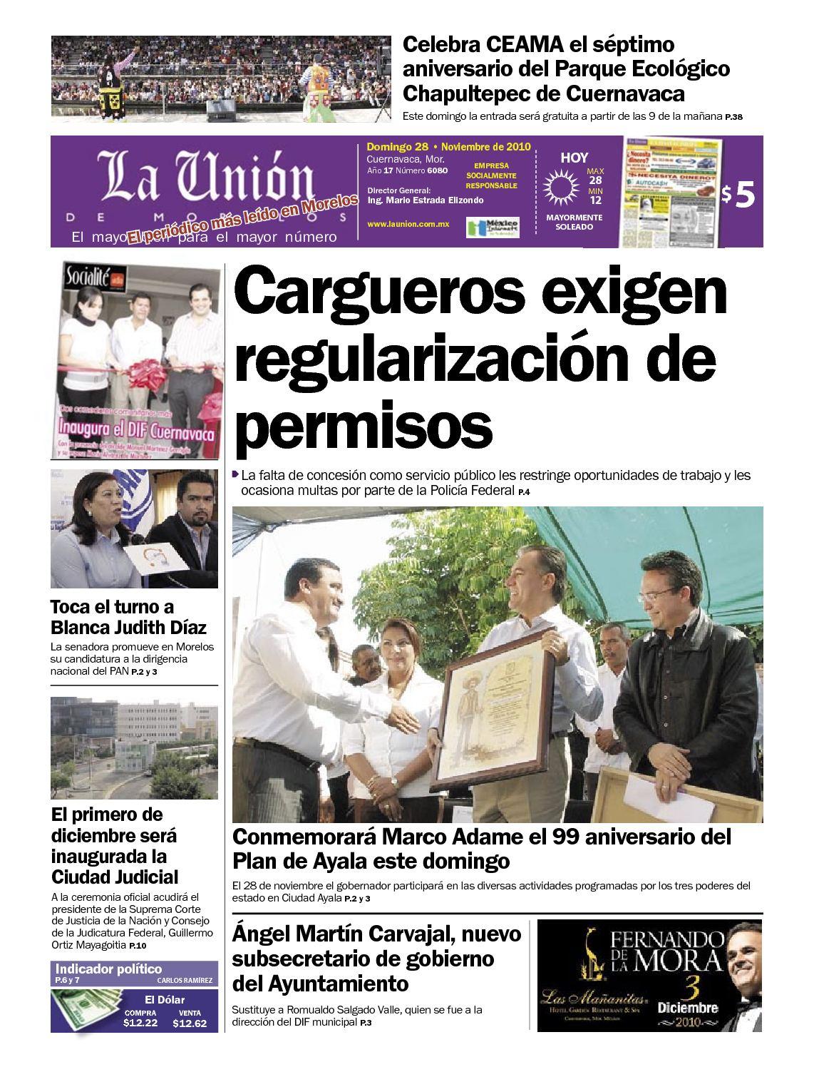 Calameo La Union De Morelos 28 Noviembre 2010