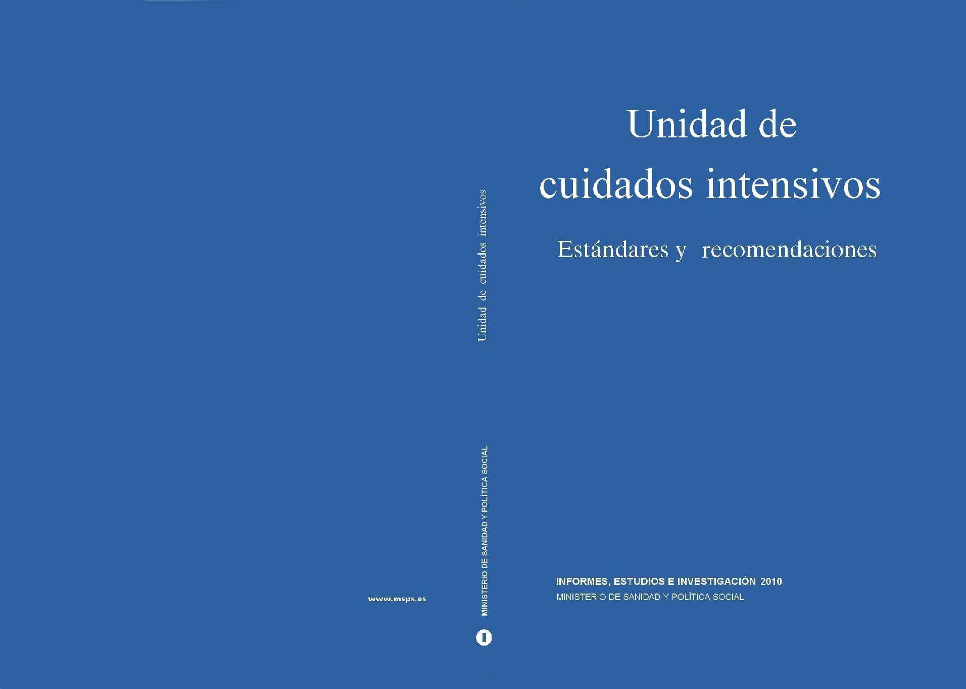 Calaméo - Estandars y Recomendaciones en las Unidades de Cuidados ...