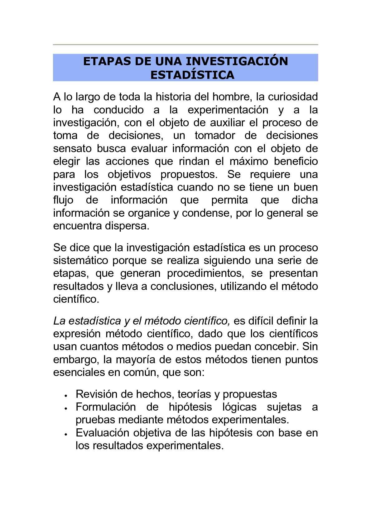 Calaméo - ETAPAS DE UNA INVESTIGACION ESTADISTICA