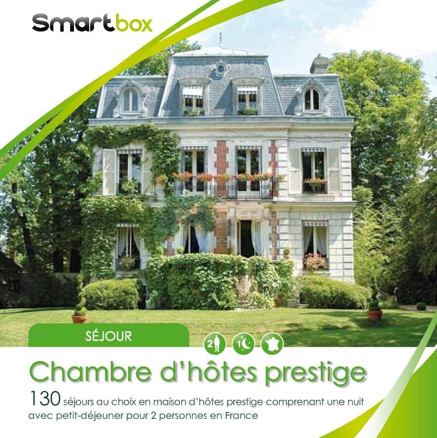 Calam o smartbox chambre d hote prestige for Chambre hote prestige